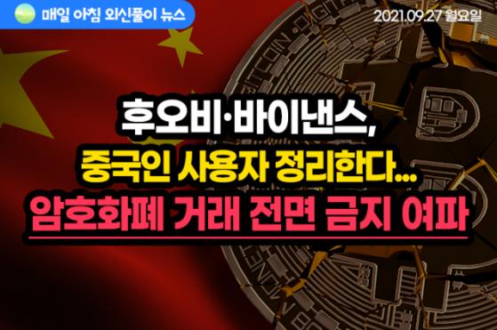 [노기자의 잠든사이에 일어난 일]후오비·바이낸스, 연말까지 중국인 사용자 전부 정리한다
